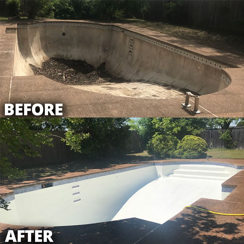 Pool Replaster - Before and After