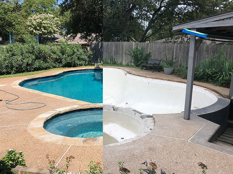 Pool Coping Repair - Before & After