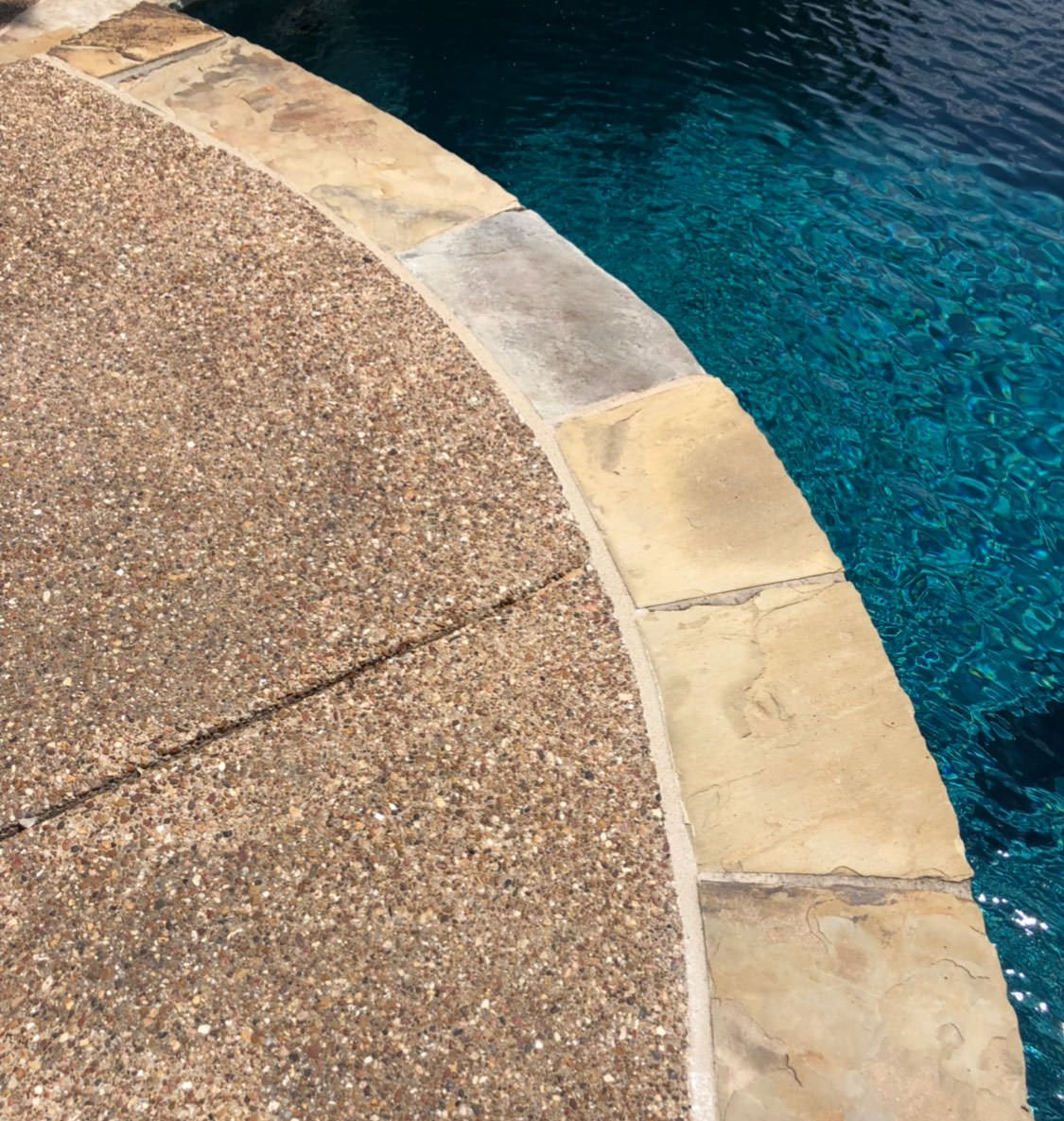 Pool coping and mastic