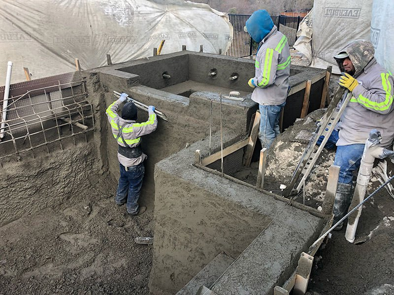 Shaping the Gunite Shell for the Pool