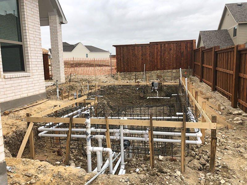 Pool Rebar with Plumbing