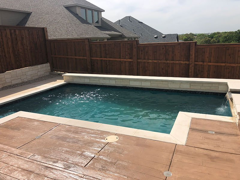 Pool and Spa for home in Walsh Ranch