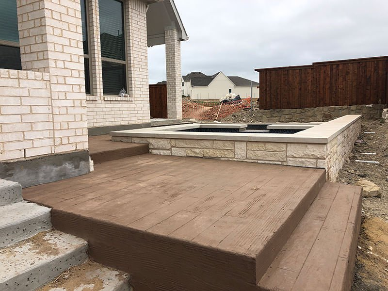 Wood Concrete Stamp for Pool Deck