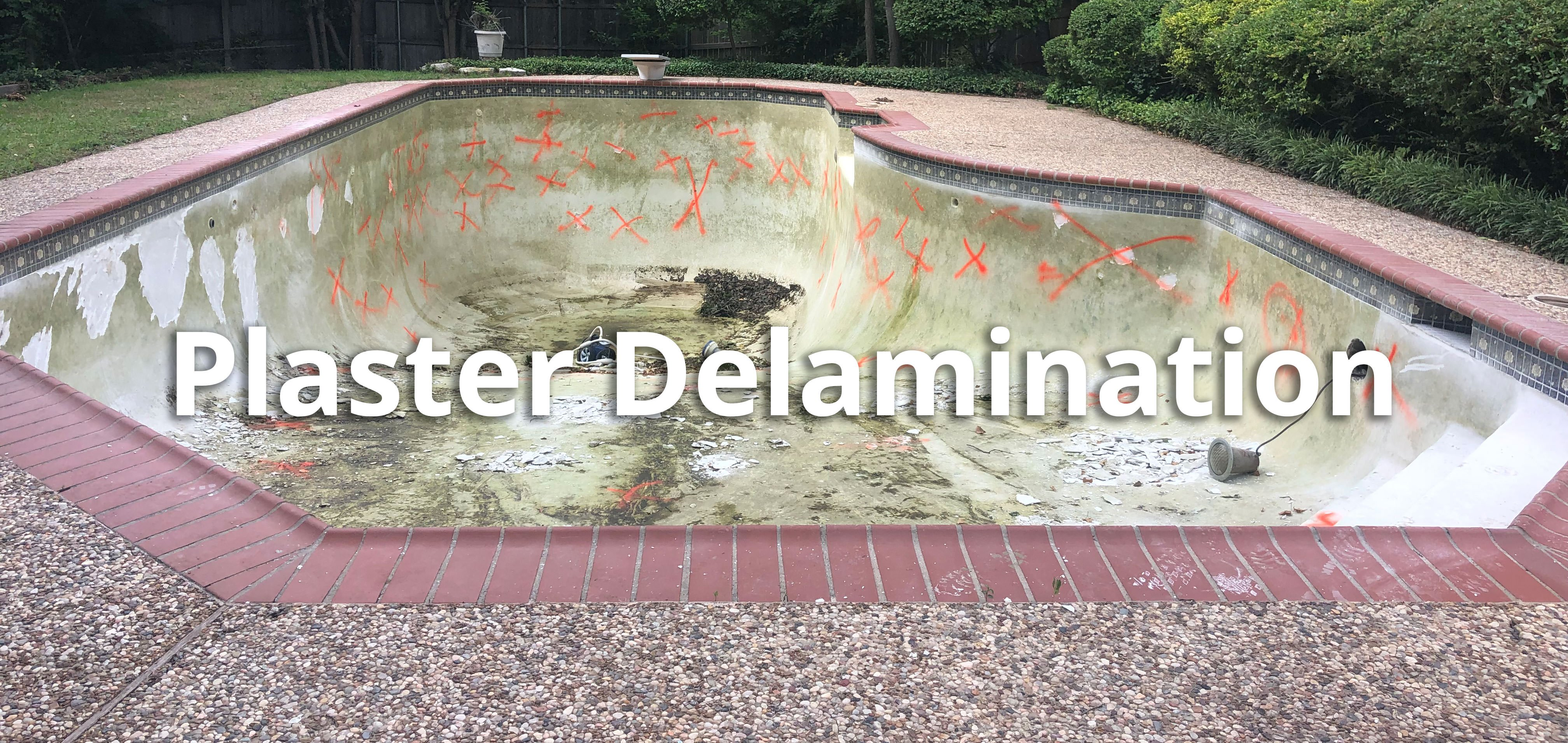 Pool Plaster Delamination