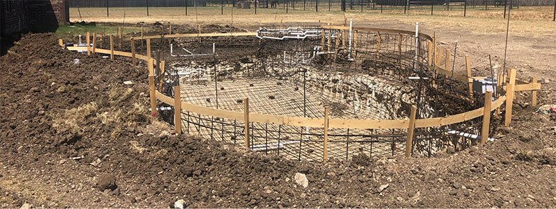 New pool being built in Dallas - Fort Worth