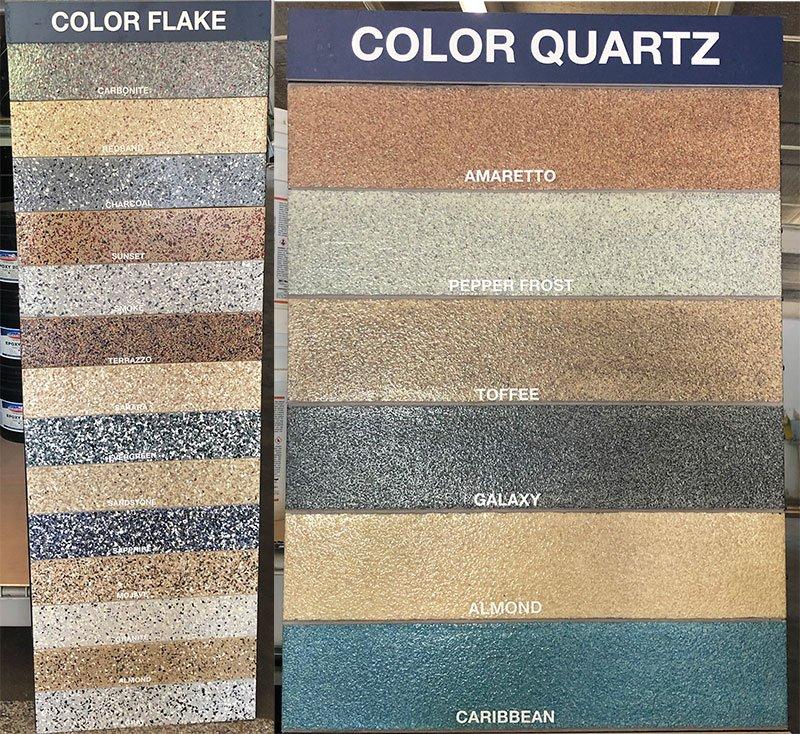 Color Quartz & Flake Surface Colors
