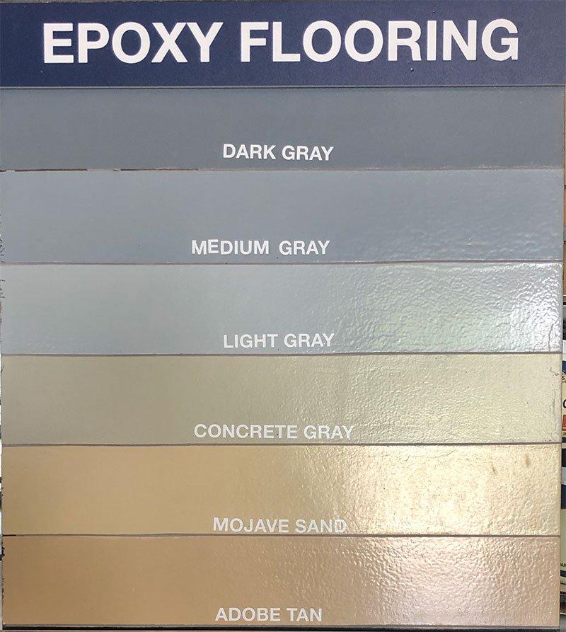 epoxy flooring colors