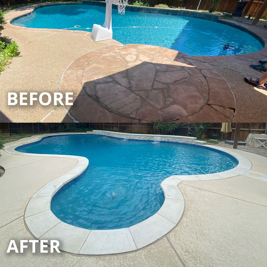 Before & After: Fort Worth Pool Remodel
