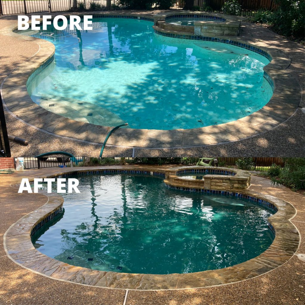 Before & After Pool Plaster Resurfacing